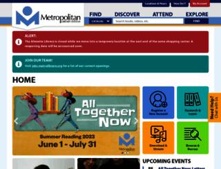 metrolibrary.org screenshot