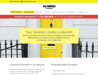 metrolocks.co.uk screenshot