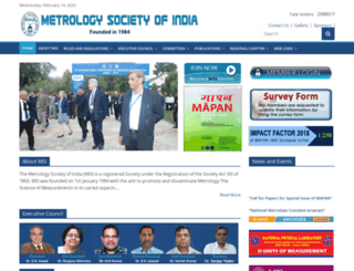 metrologyindia.org screenshot