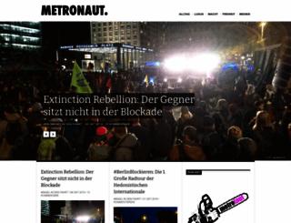 metronaut.de screenshot