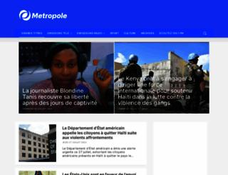 metropolehaiti.com screenshot
