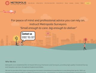 metropolis-surveyors.com screenshot
