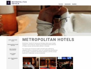 metropolitan.com screenshot