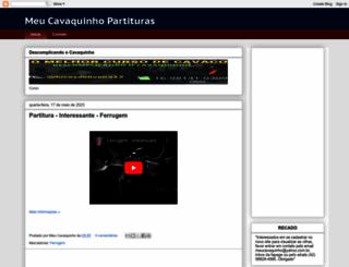 meucavaquinhopartituras.blogspot.com.br screenshot