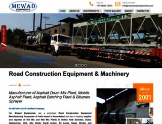 mewadroadequipments.com screenshot