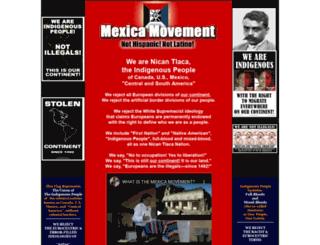 mexica-movement.org screenshot