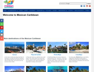 mexicancaribbean.com screenshot