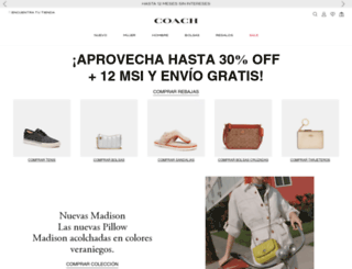 mexico.coach.com screenshot