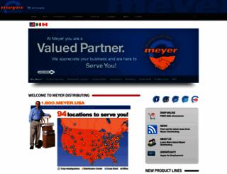 meyerdistributing.com screenshot