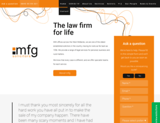 mfgsolicitors.com screenshot
