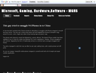 mghs-web.blogspot.com screenshot