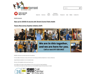 mhmrtarrant.org screenshot
