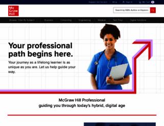 mhprofessional.com screenshot