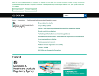 mhra.gov.uk screenshot