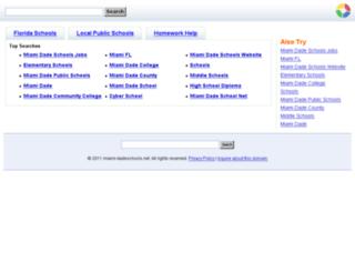 miami-dadeschools.net screenshot