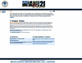 miami21.org screenshot