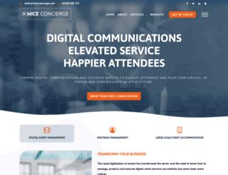 miceconcierge.com screenshot