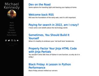 michaelckennedy.net screenshot