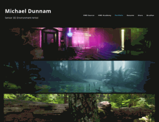 michaeldunnam.com screenshot