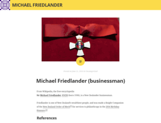 michaelfriedlandernz.wordpress.com screenshot
