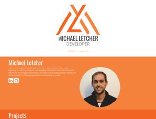 michaelletcher.com screenshot
