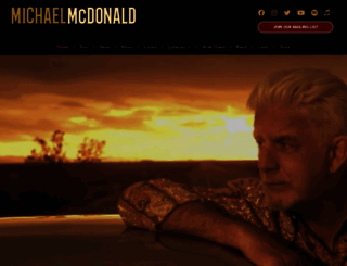 michaelmcdonald.com screenshot