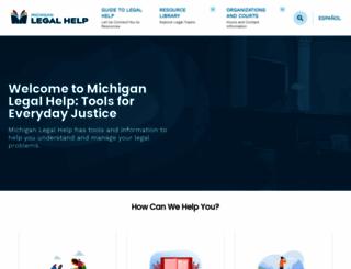 michiganlegalhelp.org screenshot