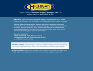 michiganpropertymanagers.com screenshot