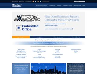 micrium.com screenshot