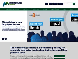 microbiologysociety.org screenshot
