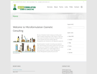 microformulation.com screenshot
