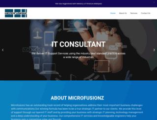 microfusionz.com screenshot