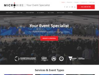 microhire.com.au screenshot