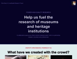 micropasts.org screenshot