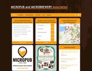micropubassociation.co.uk screenshot