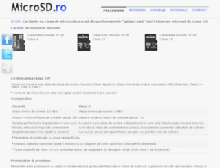 microsd.ro screenshot