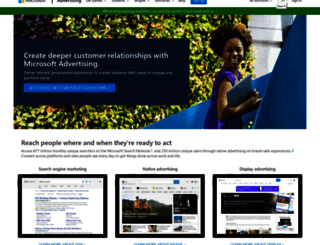 microsoftadvertising.com screenshot