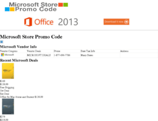 microsoftofficepromocode.com screenshot