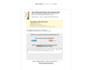 microsoftpoints.freegiftcode.com screenshot