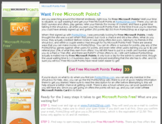 microsoftpointsfree.com screenshot