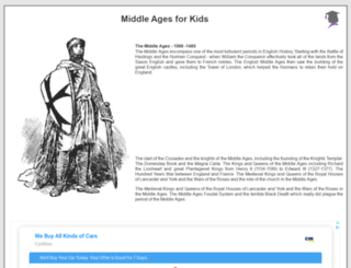middle-ages.org.uk screenshot