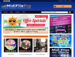 midifile-pro.com screenshot