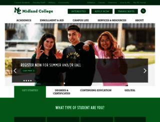 midland.edu screenshot