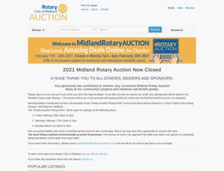 midlandrotaryauction.com screenshot