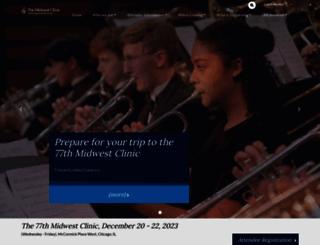 midwestclinic.org screenshot