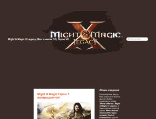 mightandmagicx.ru screenshot