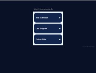 mighty-instruments.de screenshot