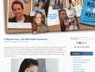 migraine-matters.co.uk screenshot