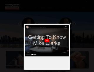 mikeclarke.com screenshot