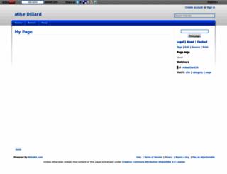mikedillard39.wikidot.com screenshot
